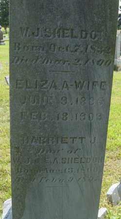 SHELDON, ELIZA A - Lincoln County, South Dakota | ELIZA A SHELDON - South Dakota Gravestone Photos