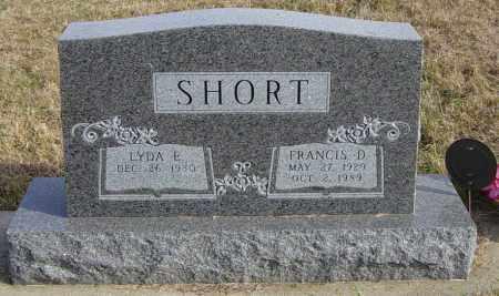 SHORT, FRANCIS D - Lincoln County, South Dakota   FRANCIS D SHORT - South Dakota Gravestone Photos