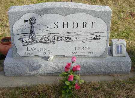SHORT, LAVONNE - Lincoln County, South Dakota | LAVONNE SHORT - South Dakota Gravestone Photos