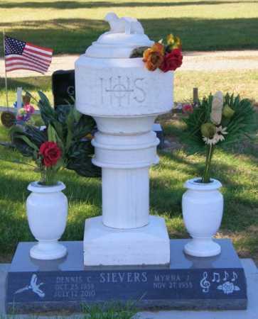 SIEVERS, MYRNA J. - Lincoln County, South Dakota | MYRNA J. SIEVERS - South Dakota Gravestone Photos