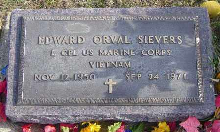 SIEVERS, EDWARD ORVAL - Lincoln County, South Dakota | EDWARD ORVAL SIEVERS - South Dakota Gravestone Photos