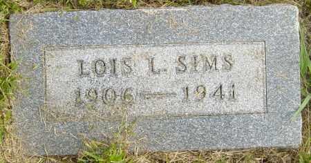 SIMS, LOIS L - Lincoln County, South Dakota | LOIS L SIMS - South Dakota Gravestone Photos