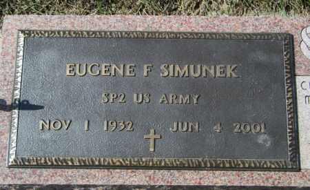 SIMUNEK, EUGENE F - Lincoln County, South Dakota | EUGENE F SIMUNEK - South Dakota Gravestone Photos