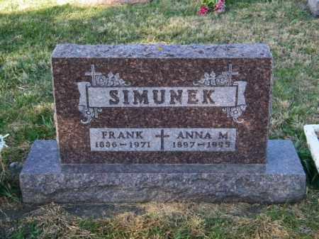 SIMUNEK, FRANK - Lincoln County, South Dakota | FRANK SIMUNEK - South Dakota Gravestone Photos