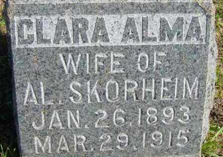 SKORHEIM, CLARA ALMA - Lincoln County, South Dakota | CLARA ALMA SKORHEIM - South Dakota Gravestone Photos