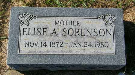 SORENSON, ELISE A. - Lincoln County, South Dakota | ELISE A. SORENSON - South Dakota Gravestone Photos