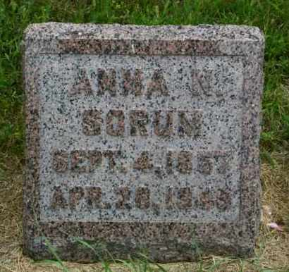 SORUM, ANNA N - Lincoln County, South Dakota | ANNA N SORUM - South Dakota Gravestone Photos
