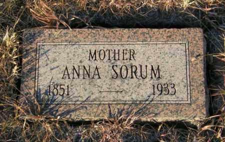 SORUM, ANNA - Lincoln County, South Dakota | ANNA SORUM - South Dakota Gravestone Photos