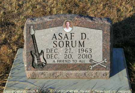 SORUM, ASAF D - Lincoln County, South Dakota | ASAF D SORUM - South Dakota Gravestone Photos