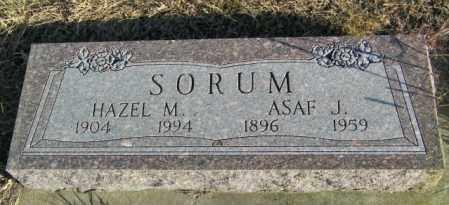SORUM, HAZEL M - Lincoln County, South Dakota | HAZEL M SORUM - South Dakota Gravestone Photos