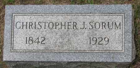 SORUM, CHRISTOPHER J. - Lincoln County, South Dakota   CHRISTOPHER J. SORUM - South Dakota Gravestone Photos