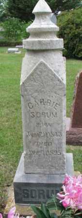SORUM, CARRIE - Lincoln County, South Dakota | CARRIE SORUM - South Dakota Gravestone Photos
