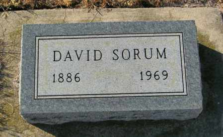 SORUM, DAVID - Lincoln County, South Dakota | DAVID SORUM - South Dakota Gravestone Photos