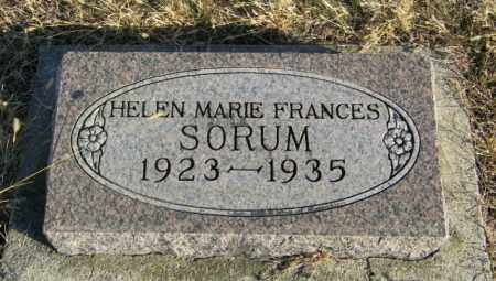 SORUM, HELEN MARIE FRANCES - Lincoln County, South Dakota | HELEN MARIE FRANCES SORUM - South Dakota Gravestone Photos