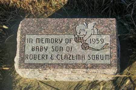 SORUM, INFANT SON - Lincoln County, South Dakota | INFANT SON SORUM - South Dakota Gravestone Photos