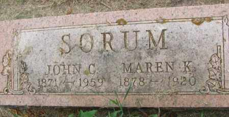 SORUM, MAREN K. - Lincoln County, South Dakota | MAREN K. SORUM - South Dakota Gravestone Photos