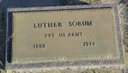 SORUM, LUTHER - Lincoln County, South Dakota | LUTHER SORUM - South Dakota Gravestone Photos