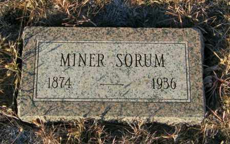 SORUM, MINER - Lincoln County, South Dakota | MINER SORUM - South Dakota Gravestone Photos