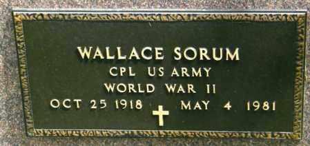SORUM, WALLACE - Lincoln County, South Dakota | WALLACE SORUM - South Dakota Gravestone Photos