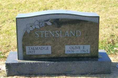 STENSLAND, OLIVE E - Lincoln County, South Dakota   OLIVE E STENSLAND - South Dakota Gravestone Photos