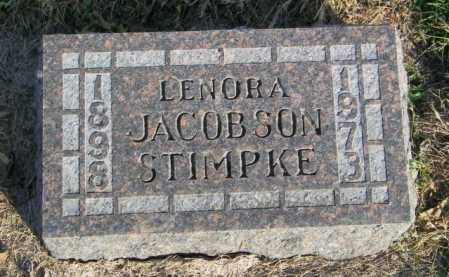 JACOBSON STIMPKE, LENORA - Lincoln County, South Dakota | LENORA JACOBSON STIMPKE - South Dakota Gravestone Photos