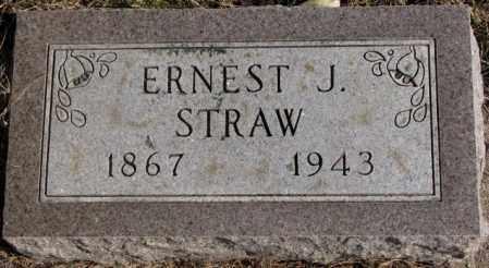 STRAW, ERNEST J. - Lincoln County, South Dakota   ERNEST J. STRAW - South Dakota Gravestone Photos