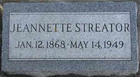 STREATOR, JEANNETTE - Lincoln County, South Dakota   JEANNETTE STREATOR - South Dakota Gravestone Photos