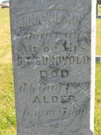 SUNDVOLD, ANNA WILMINE - Lincoln County, South Dakota | ANNA WILMINE SUNDVOLD - South Dakota Gravestone Photos