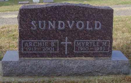 SUNDVOLD, MYRTLE M - Lincoln County, South Dakota   MYRTLE M SUNDVOLD - South Dakota Gravestone Photos