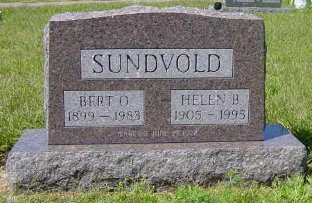 SUNDVOLD, BERT O - Lincoln County, South Dakota | BERT O SUNDVOLD - South Dakota Gravestone Photos