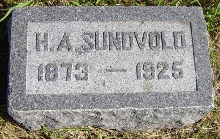 SUNDVOLD, H  A - Lincoln County, South Dakota   H  A SUNDVOLD - South Dakota Gravestone Photos
