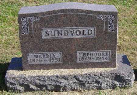 SUNDVOLD, MARRIA - Lincoln County, South Dakota | MARRIA SUNDVOLD - South Dakota Gravestone Photos