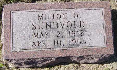 SUNDVOLD, MILTON O - Lincoln County, South Dakota | MILTON O SUNDVOLD - South Dakota Gravestone Photos