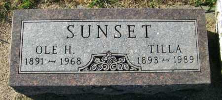 SUNSET, OLE H. - Lincoln County, South Dakota   OLE H. SUNSET - South Dakota Gravestone Photos