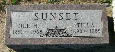 SUNSET, OLE H. - Lincoln County, South Dakota | OLE H. SUNSET - South Dakota Gravestone Photos