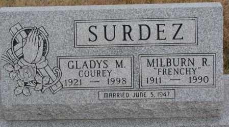 COUREY SURDEZ, GLADYS M. - Lincoln County, South Dakota | GLADYS M. COUREY SURDEZ - South Dakota Gravestone Photos