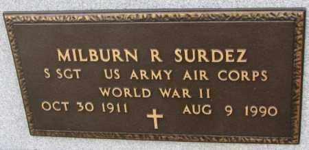 SURDEZ, MILBURN R. (WW II) - Lincoln County, South Dakota | MILBURN R. (WW II) SURDEZ - South Dakota Gravestone Photos