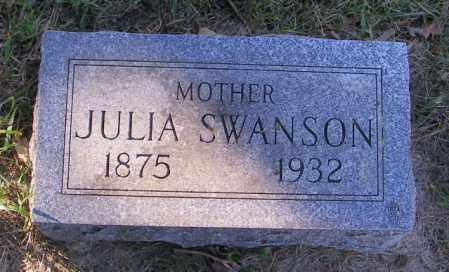 SWANSON, JULIA - Lincoln County, South Dakota | JULIA SWANSON - South Dakota Gravestone Photos