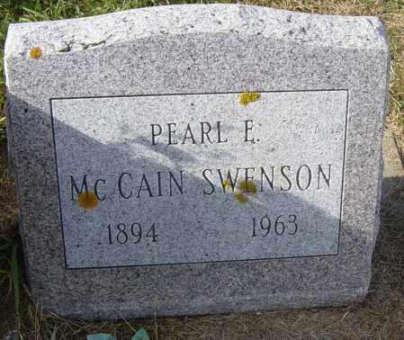 MCCAIN SWENSON, PEARL E - Lincoln County, South Dakota | PEARL E MCCAIN SWENSON - South Dakota Gravestone Photos