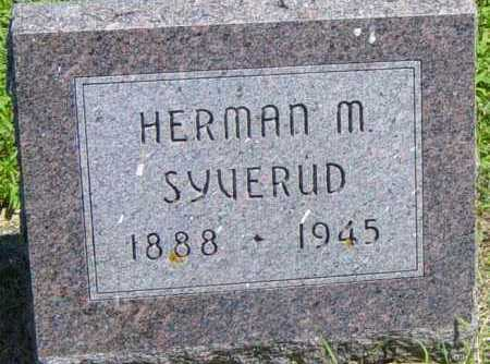 SYVERUD, HERMAN M - Lincoln County, South Dakota | HERMAN M SYVERUD - South Dakota Gravestone Photos