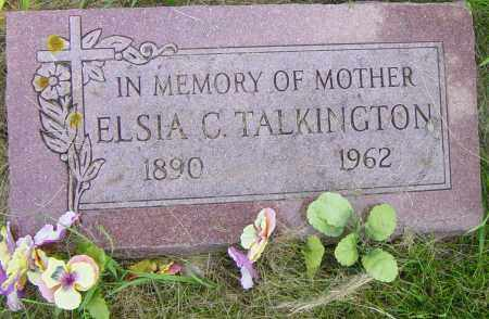 TALKINGTON, ELSIA C - Lincoln County, South Dakota | ELSIA C TALKINGTON - South Dakota Gravestone Photos
