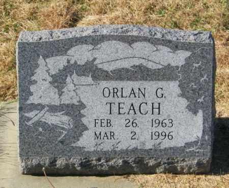 TEACH, ORLAN G - Lincoln County, South Dakota   ORLAN G TEACH - South Dakota Gravestone Photos