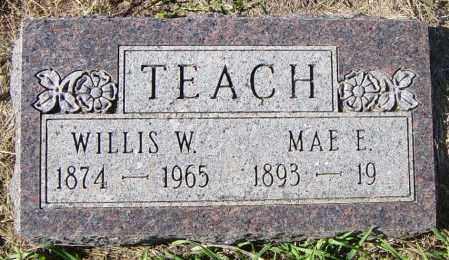 TEACH, MAE E - Lincoln County, South Dakota | MAE E TEACH - South Dakota Gravestone Photos