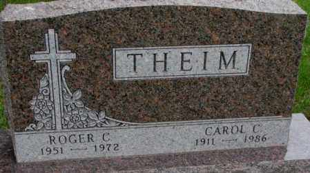 THEIM, CAROL C. - Lincoln County, South Dakota | CAROL C. THEIM - South Dakota Gravestone Photos
