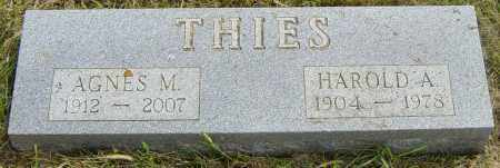 THIES, HAROLD A - Lincoln County, South Dakota | HAROLD A THIES - South Dakota Gravestone Photos