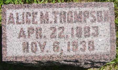 THOMPSON, ALICE M - Lincoln County, South Dakota   ALICE M THOMPSON - South Dakota Gravestone Photos