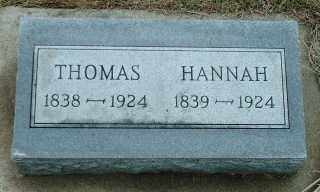 THORPE, HANNAH - Lincoln County, South Dakota | HANNAH THORPE - South Dakota Gravestone Photos