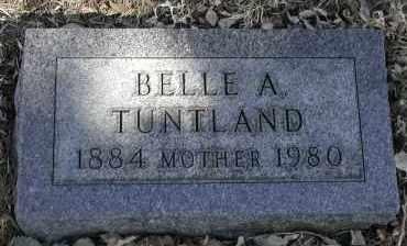 TUNTLAND, BELLE A. - Lincoln County, South Dakota | BELLE A. TUNTLAND - South Dakota Gravestone Photos