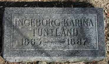 TUNTLAND, INGEBORG KARINA - Lincoln County, South Dakota | INGEBORG KARINA TUNTLAND - South Dakota Gravestone Photos