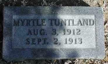 TUNTLAND, MYRTLE - Lincoln County, South Dakota | MYRTLE TUNTLAND - South Dakota Gravestone Photos